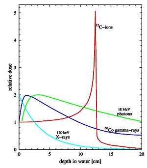 Ionizing Radiation Depth Dose Curves