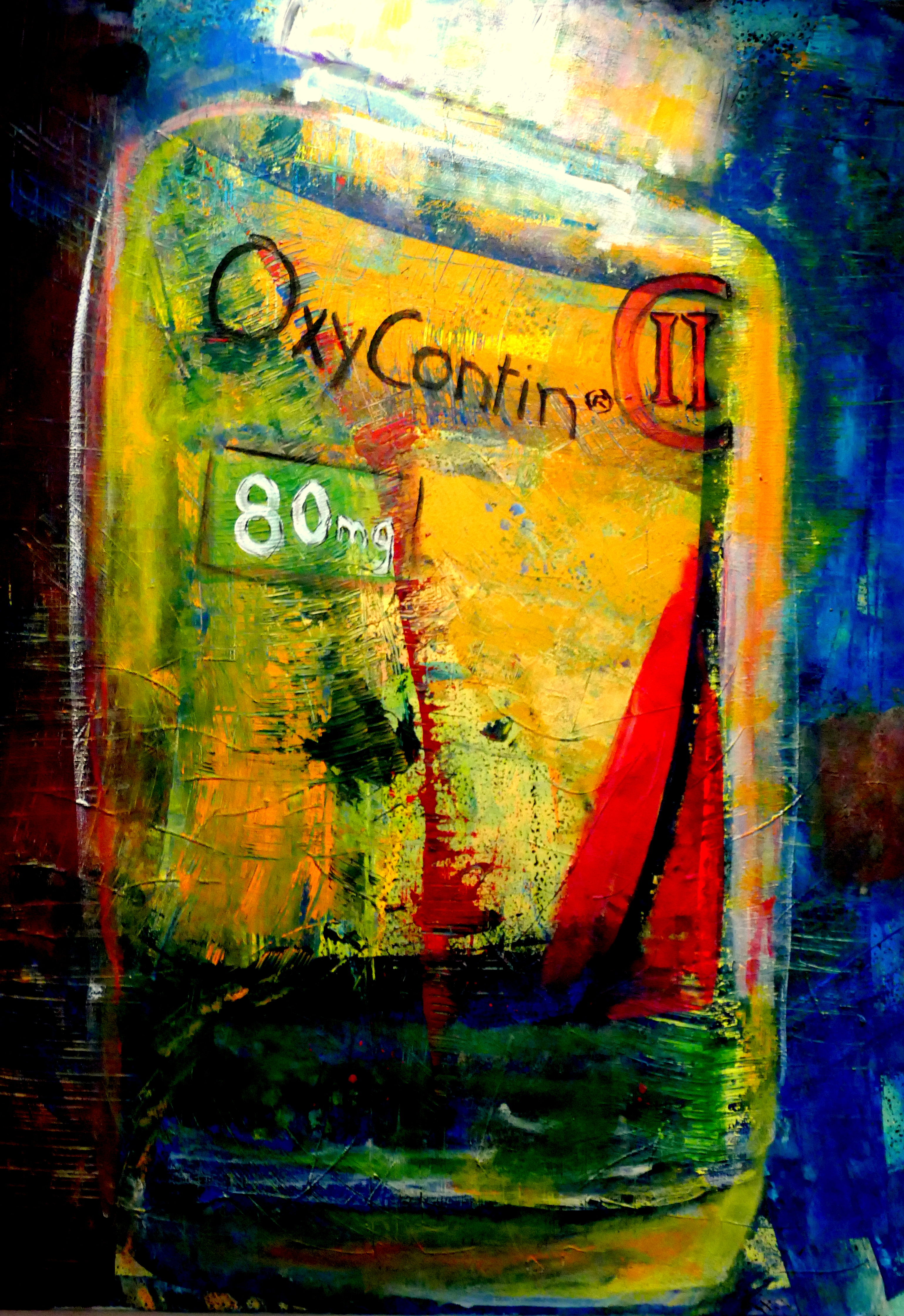 Oxycontin painting in a home in LA